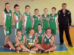 Команда баскетболисток школы п. Пижанка.