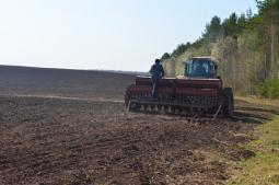 Весенний сев в Ошаевском.