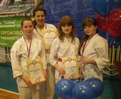 Участницы Чемпионата области по рукопашному бою