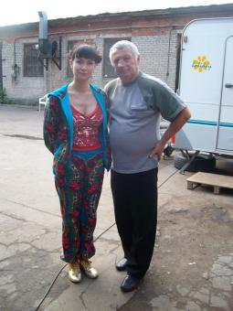 В. Шабриков с актрисой Нонной Гришаевой.