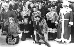 Так в Пижанке провожали зиму в 1969 году.