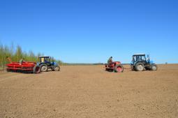 В «Сретенском» засевают последние гектары.