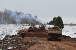 Строительство дороги Пижанка – Казаково – Новые Щеглята.