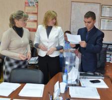 Счётная комиссия (И.Л. Гудовских, В.А. Копцева,   О.Н. Ведерников (председатель)) подводит итоги голосования
