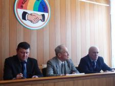 Слева направо: Г.А. Корякин, В.П. Распопин, С.Р. Сичинава.
