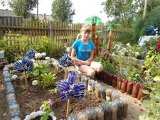 В саду у Ани Журавлёвой.