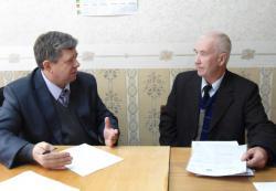 На приёме у А.А. Маликова В.В. Унженин.