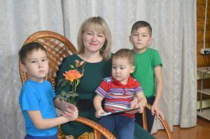 Людмила Русинова и сыновья