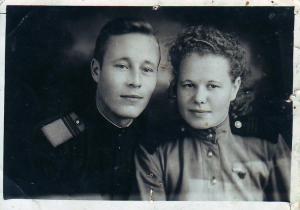 Валентина Лебедева и её сослуживец