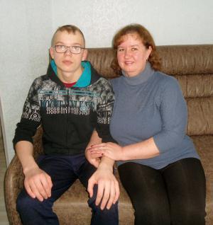 Светлана Мотовилова с племянником Леонидом