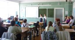 Проект защищают Вика Иванова и Лиза Блинова.