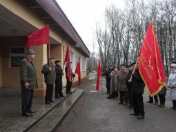 На митинге коммунисты.